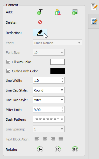 Options for PDF Content Redaction