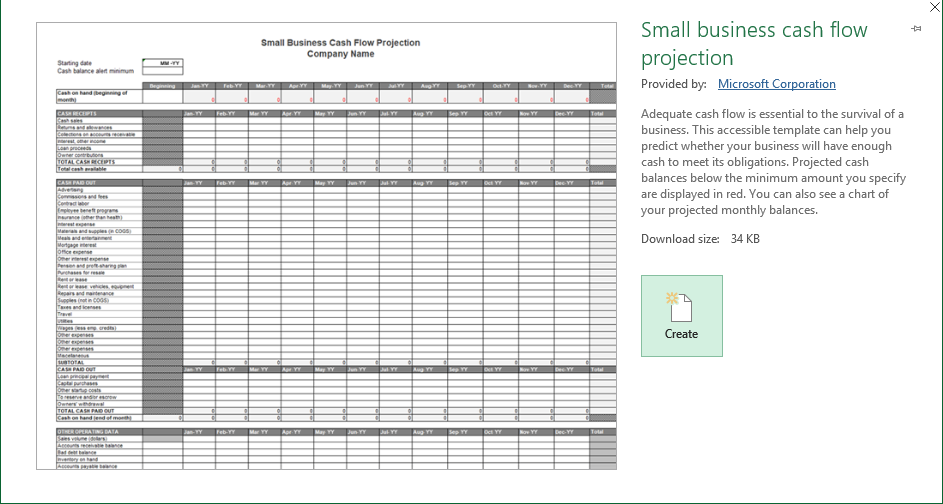 Business Finance Excel Template