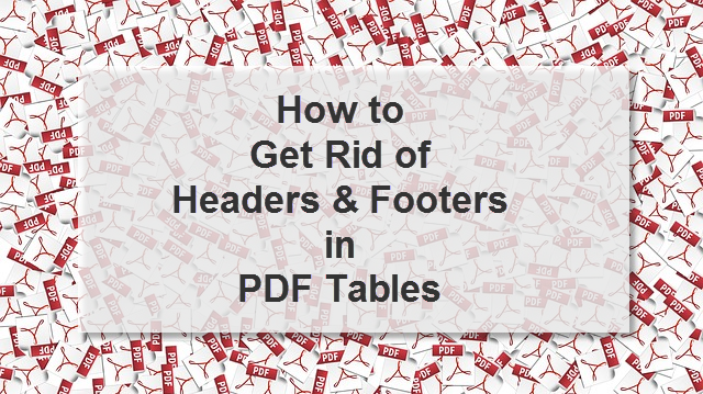 Headers and Footers in PDF Tables