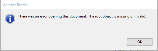 pdf opening error