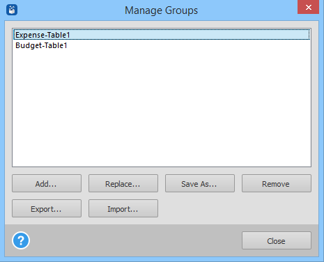 manage groups options