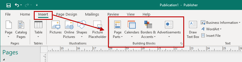 Tips on using building blocks in Microsoft Publisher