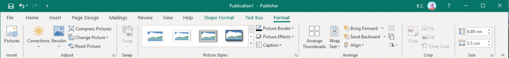 Adding pictures in MS Publisher