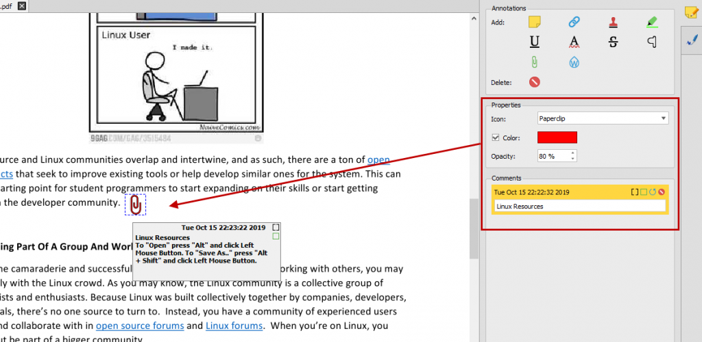 Customizing and formatting PDF attachments
