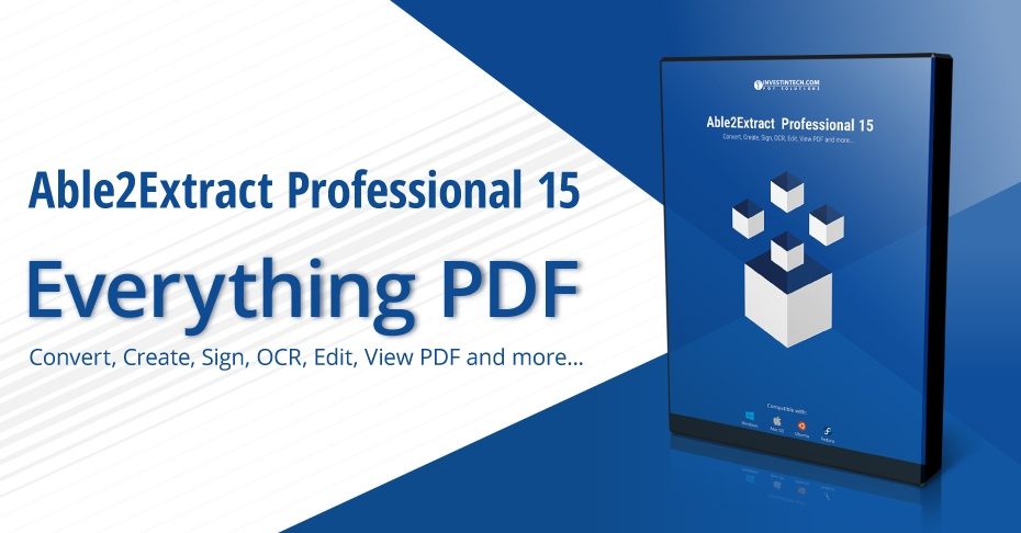 New Able2Extract Professional 15 Released