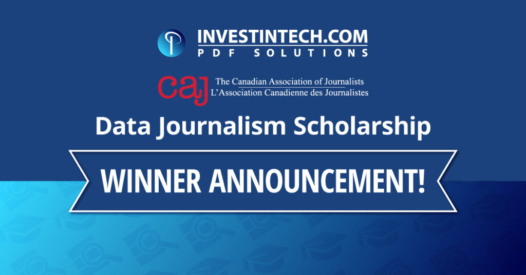 Investintech – CAJ Journalism Scholarship 2020 -2021 Winner Announced!